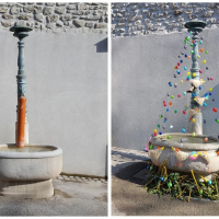 Decorated fountains - Nyon - 2019